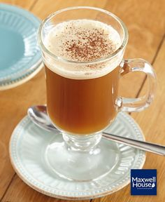 Enjoy this Butter Coffee Recipe made with Maxwell House Coffee and seasoned with ground cinnamon. As a plus, this delicious Butter Coffee Recipe can be ready in just 5 minutes. Butter Coffee Recipe, Tapas, Maxwell House Coffee, Recipe Please, Cooking Instructions, Unsweetened Cocoa, Coffee Roasting, Home Recipes, What To Cook