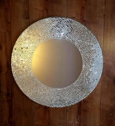Large round mirror Decorative mirror wall hanging/ Mosaic wall mirror/ Made to order Mirror Wall Art, Mirror Mosaic, Diy Mirror, Mosaic Wall, Mirror Ideas, Large Round Mirror, Round Mirrors, Glamour Decor, Unique Mirrors