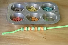 Tasty Cereal Bracelets | No Time For Flash Cards - Play and Learning Activities For Babies, Toddlers and Kids