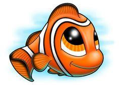 Clown Fish – Under the Sea Temporary Tattoo, Clownfisch – Tätowierung unter dem Meer, Sea Tattoo, Tattoo Set, Cute Tattoos, Small Tattoos, Pug Dogs For Sale, Fish Under The Sea, Fisher, Cartoon Fish, Super Cute Animals