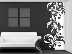 Creative Wall Painting, Wall Painting Decor, Home Decor Paintings, Creative Walls, House Painting, Office Wall Design, Animal Print Wallpaper, Family Tree Wall Decal, Decorative Panels