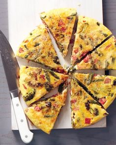 Vegetable Frittata with Roasted Potatoes and Garlic  Frittatas are great warm or at room temperature, making this a smart meal for a busy night when not everyone in the family can sit down to dinner at the same time.