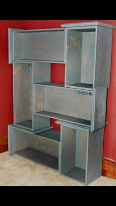Made from dresser drawers