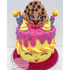 Such a popular theme!! A shopkins cake for Amani's 6th birthday!  #shopkins #kidsbirthday #kookycookie ...