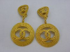 CHANEL LARGE BRAIDED EARRINGS