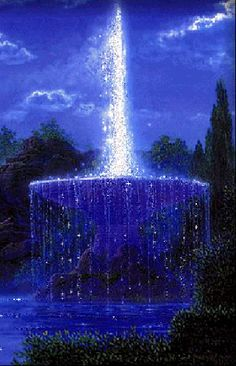 Thomas Kinkade Paintings Romantic | Thomas Kinkade Gardens and Fountains