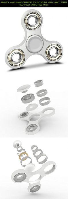 Tri Fidget Hand Spinner Focus Desk Toy w// case Free Shipping! white//gold New