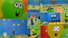 """Clearly Candace: A """"Veg-Double"""" Bouncy Birthday Veggie Tales Birthday, Veggie Tales Party, 4th Birthday Parties, Birthday Fun, Birthday Ideas, Veggie Tales Characters, Twin Birthday, Birthday Decorations, Birthday Invitations"""