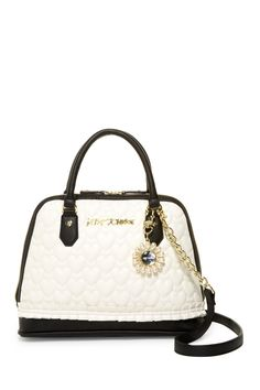 Pleated Medium Dome Satchel by Betsey Johnson on @nordstrom_rack