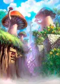 The Art Of Animation Fantasy Places, Fantasy World, Fantasy Art, Environment Concept Art, Environment Design, Illustrations, Illustration Art, Psy Art, Animation Background