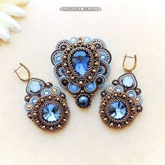 Soutache Pendant & Earrings Set                              …