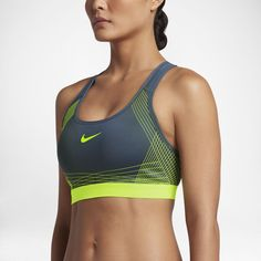 Nike Pro Hyper Classic Padded Women's Medium Support Sports Bra Size Small (Blue) - Clearance Sale