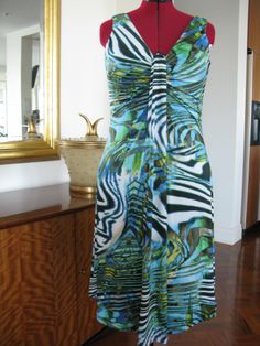 Burda pattern - Waterfall dress in knit fabric