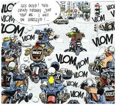 Harleys by the Joe Bar Team Women Riding Motorcycles, Cool Motorcycles, Harley Bikes, Harley Davidson Bikes, Joe Bar, Motorcycle Humor, Tex Avery, Team Page, Bd Comics