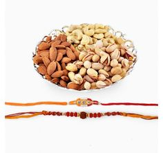 Assorted Dryfruits With Set of two Rakhi #healthy #mix #dryfruits #two #rakhis