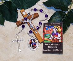Unbreakable Chaplet of St. Margaret Clitherow - Patron Saint of Businesswomen / Female Entrepreneurs by foodforthesoul on Etsy