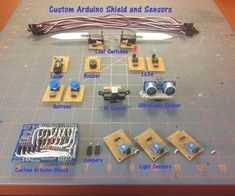 This instructable will construct a series of custom sensor modules and an Arduino shield.