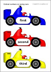 Can cut out laminate and use with the matching ordinal word car cards to play memory or as a matching game. Numbers Kindergarten, Numbers Preschool, Learning Numbers, Free Preschool, Preschool Lessons, Number Activities, Number Games, Activities For Kids, Ordinal Numbers