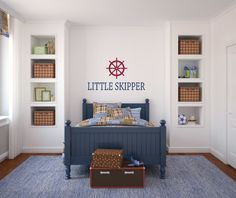 Little Skipper Nautical Ship Wheel Wall by PacificBeachBoutique, $23.00
