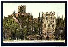 Italien - Arco-Castello / visible damage in lower right corner of postcard / postcard not circulated