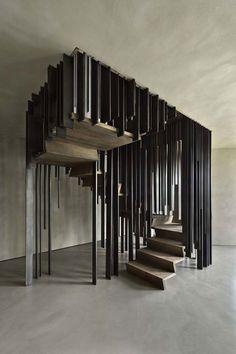 Milanese design collective Storage Associati has a staircase to say the least fool-the-eye. - http://www.skonahem.com/inredning/Den-har-trappan-kommer-att-fa-dig-att-titta-tva-ganger