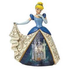Disney Traditions Cinderella Figurine - Midnight at the Ball - Jim Shore - 4045239 #FineGiftsNottingham #CinderellaFigurineDisneyTraditionsMidnightAtTheBall