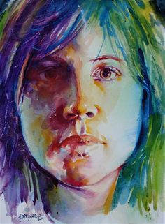 david lobenberg watercolors | Female Portrait Study Painting by David Lobenberg - Female Portrait ...