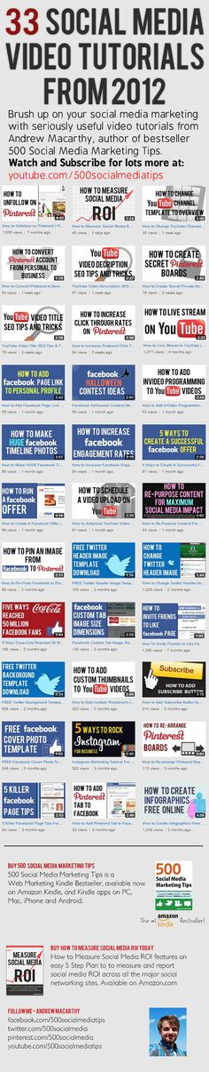 33 Social Media Video Tutorials [INFOGRAPHIC] — Andrew Macarthy | Social Media Marketing Wales |
