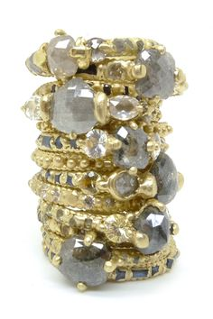 Diamonds by jeweler Polly Wales >> I don't think it gets any cooler than this!  Just beautiful