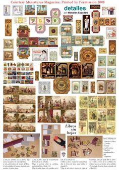 Maison 1:12-2 vignettes dossiers pour poupée-p