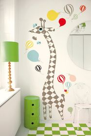 The Giraffe motif is a ruler for measuring the growth of little people. All the wall stickers are removable, just be careful when peeling the sticker off the wall and store the sticker on back of the sheet.