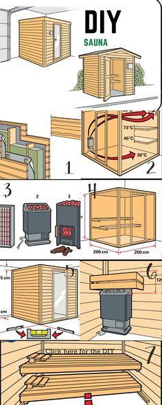 Sauna House, Sauna Room, Homemade Sauna, Building A Sauna, Sauna Shower, Indoor Sauna, Sauna Design, Steam Room, Diy Home Improvement