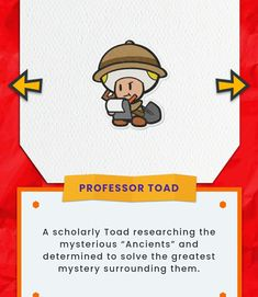 Paper Mario, Greatest Mysteries, Toad, Best Games, Professor, Origami, Mystery, King, Characters