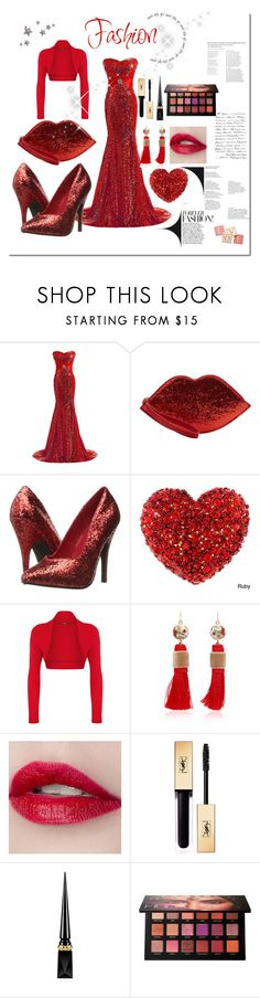 """Women set 10"" by emypoyvore ❤ liked on Polyvore featuring Lulu Guinness, Ellie Shoes, WearAll, Mimilore, Yves Saint Laurent, Christian Louboutin, Huda Beauty and Pier 1 Imports"