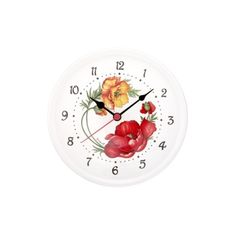 Spigarelli Designer Kitchen & Dining Poppy Ceramic Wall Clock (430 CNY) ❤ liked on Polyvore featuring home, home decor, clocks, kitchen & dining, white, white home decor, white clock, ceramic wall clock, inspirational home decor and white wall clock
