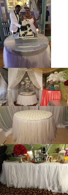 Tulle 20942: Angel Linens - Wedding Decor - Table Skirt - White Tulle -Special Offer -> BUY IT NOW ONLY: $75 on eBay!