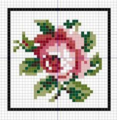 mini pillow - cross stitch chart.