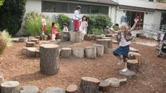 Stump circle for backyard project...maybe three concentric circles instead. Offering more class seating where teacher can have the children in a more concentrated area...also,offering more community seating for school events.
