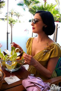 Does Dita ever not look elegant?.