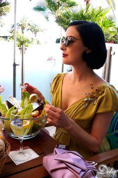 Does Dita ever not look elegant?.