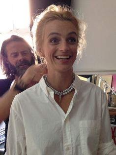 Behind the scenes from Czech Elle's shoot with Ivana Jirešová and Mads Kornerup