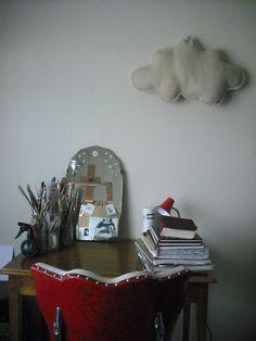 old mirror, cloud-- Indianablue via flickr