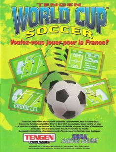 World Cup Soccer for Game Gear (France, Tengen / Domark, July 1993)