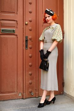The fabulous Marianne in her own 1930's inspired creation. I am so in love!
