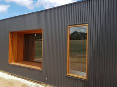 Building a Shed has Never Been so Easy House Cladding, Metal Cladding, Metal Siding, Exterior Cladding, Wall Cladding, Facade House, Timber Windows, Australian Architecture, Shed Homes