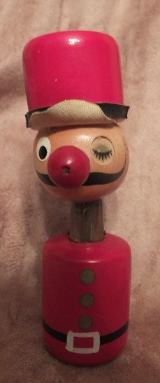 Vintage Davar Wooden Solider Salt and by MoonbearConnections