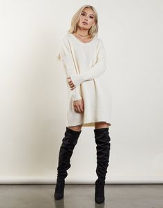 Free Fall Sweater Dress Sweater Dress Boots, Cream Sweater Dress, Winter Sweater Dresses, Fall Sweaters, Dress With Boots, Winter Date Night Outfits, Winter Outfits Women, Fall Outfits, Capes
