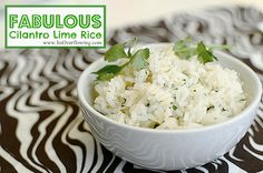 My family is a big fan of my Cilantro Lime Rice Recipe...the flavor of Chipolte...this 5 ingredient recipe makes a simple meal taste elaborate!