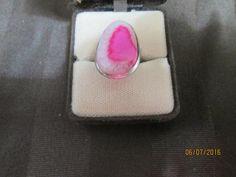 Botswana Agate Geode Druzy 37.85ct Ring                         BA-008 - Birthstones and More