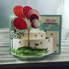 Mit den neuen Produkten ein bisschen gewerkelt...ich bin schon jetzt in diese Luftballons verliebt #iloveit #stampin #stampinup #stampinupdemo #stampinupdeutschland #stampinupdemonstrator #luftballons #new #neu #paper #paperwork #papercraft #madebytinilue